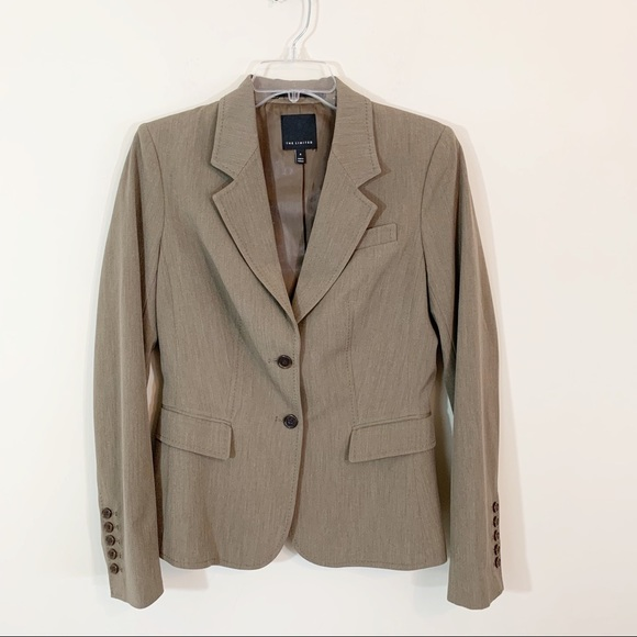 The Limited Jackets & Blazers - The Limited • Brown Lined Double Button Blazer 8